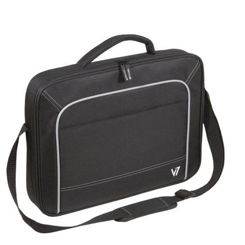 V7 CCV2-9E Vantage Front Loader Laptop Carry Case for 17 inch Notebooks (Black with Grey Accents)