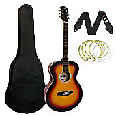 Tiger Sunburst Acoustic Guitar Package