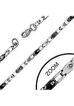 Urban Male Contemporary Stainless Steel Chain Necklace 22in Long