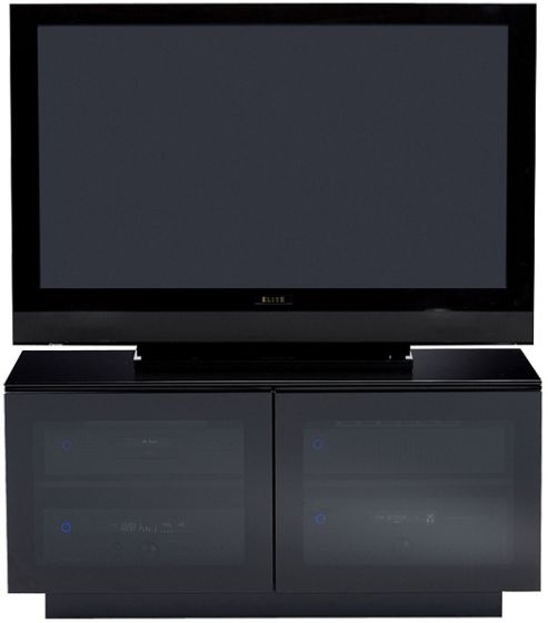 BDI MIRAGE 8224 TV cabinet in black for TVs up to 42 inch