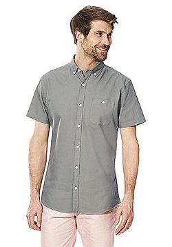 F&F Short Sleeve Oxford Shirt - Khaki