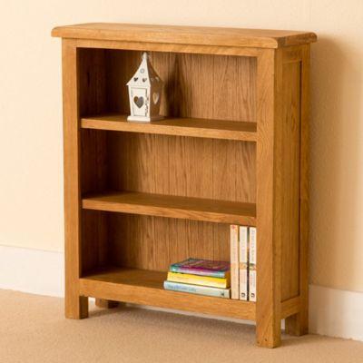 Lanner Oak Bookcase - Low Bookcase - Rustic Oak