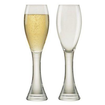 Anton Studio Design Manhattan Set of 2 Champagne Flutes Glasses