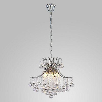 Homcom Modern Crystal Ceiling Lamp 6 Light Droplet Pendant Chandelier