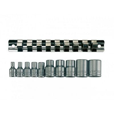 Teng M3814 11piece Clip Rail Tx-e Socket Set 3/8in & 1/4in Drive