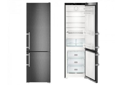 Liebherr CNbs4015 60cm NoFrost Fridge Freezer in Black Steel
