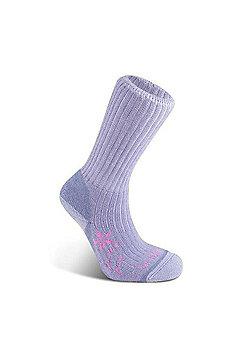 Bridgedale Ladies Merino Fusion Trekker Sock Violet WL - Purple