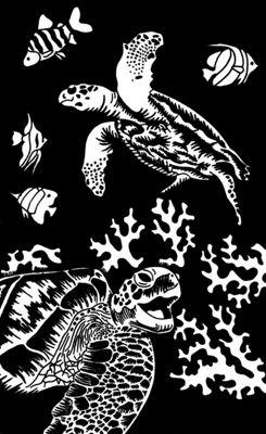 Reeves Mini Gold Scraperfoil Turtle