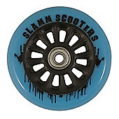 Slamm 100mm Nylon Core Wheel + Bearings - Black / Blue