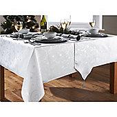"Hamilton McBride Christmas Streamers White & Silver Table Runner - 33x183cm (13x72"")"