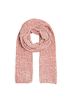 F&F Chenille Knitted Scarf - Pink