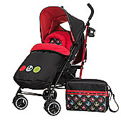 Obaby Mickey Mouse Travel System Bundle with Safety Mosquito Net - Mickey Circles