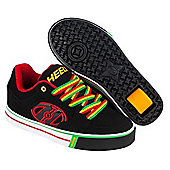 Heelys Motion Plus Black/Reggae Kids Heely Shoe - Black