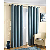 Enhanced Living Wetherby Aqua Eyelet Curtains - 46x54 Inches (117x137cm)