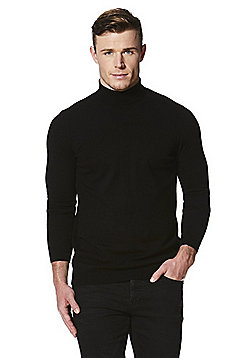 F&F Roll Neck Jumper - Black