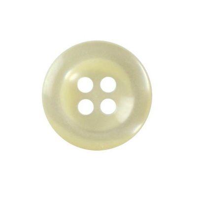 Hemline Cream Four Hole Buttons 11.25mm 13pk