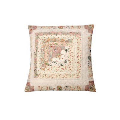 Woven Magic Stam and Cabin Calico Pastels Cushion
