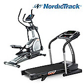 NordicTrack Cardio Package – T18.0 Folding Treadmill & E7.2 Elliptical Trainer (iFit Live compatible)