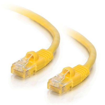 0.5m Cat5E 350MHz Snagless Patch Cable Yellow: 83240