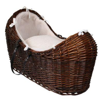 Clair de Lune Dark Noah Pod Moses Basket (Honeycomb Cream)