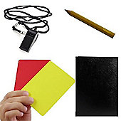 Sports Referee Kit Red Card Footy Whistle Game Sheets Pocket Book Netball Rugby