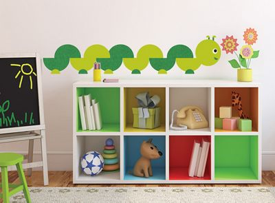 ONE Decor Book Worm Wall Stickers