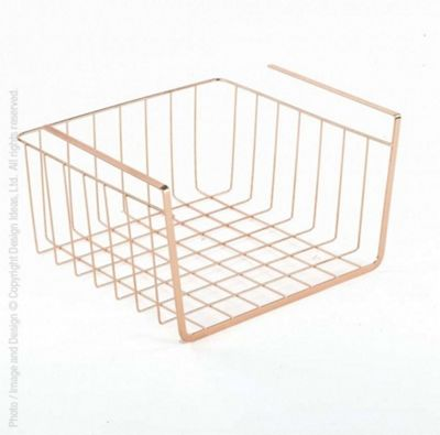 Design Ideas Lincoln Small Undershelf Basket Rack in Copper 3536006