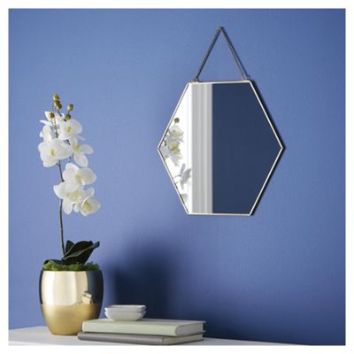 Fox Ivy Gold Edge Hexagonal Mirror ComingSoonPings Buy From Tesco