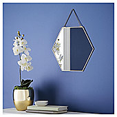 Fox & Ivy Gold Edge Hexagonal Mirror