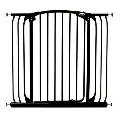 Bindaboo Extra Tall Extra Wide Hallway Pet Security Gate Black
