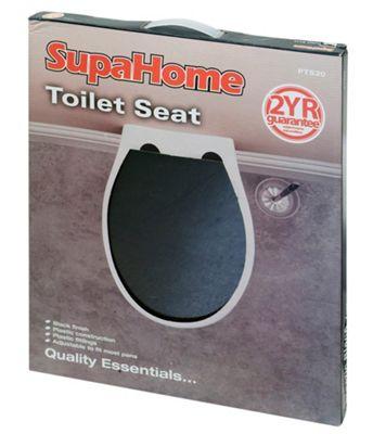 SupaHome Plastic Toilet Seat - Black