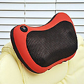 Homcom Electric Shiatsu Heat Cushion Massage Back Neck Shoulder Rest Heating Massager Relax (Red)