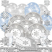 Sparkling Snowflake Christmas Party Pack - Deluxe Pack for 8