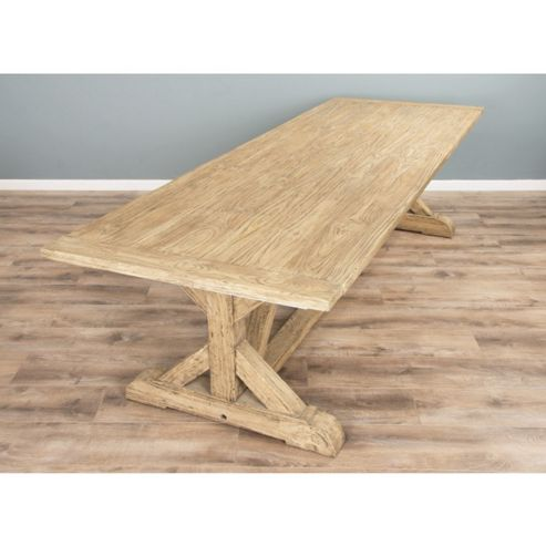 2.4m Reclaimed Pine Cross Dining Table