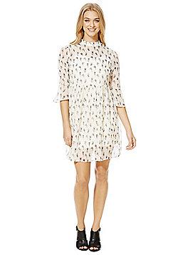 Vero Moda Floral Print Bell Sleeve Dress - Cream