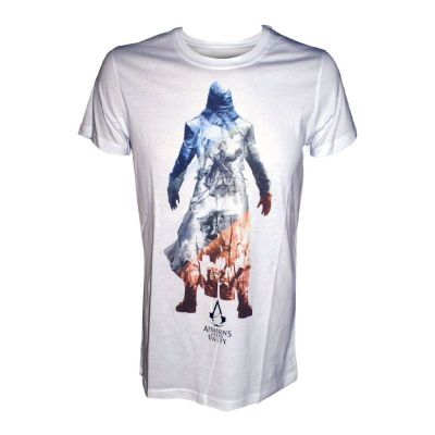 Assassin's Creed Unity Shades Of A Revolution Large T-shirt, White (ts208016asc-l) - Gaming T-Shirts
