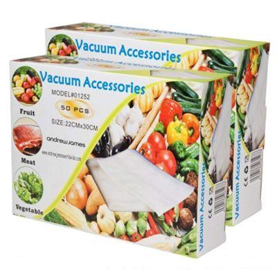 Andrew James Vacuum Food Sealer Bags - 22cm x 30cm (100 Bags)