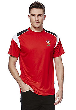 WRU Welsh Rugby Performance T-Shirt - Red