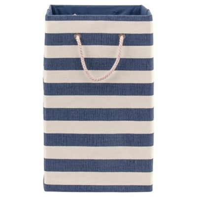 Nautical Canvas Laundry Basket