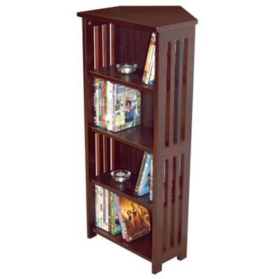 Techstyle Solid Wood Corner CD / DVD Storage Shelves