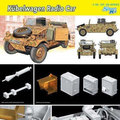 DRAGON 6886 Kubelwagen Radio Car 1:35 Military Model Kit