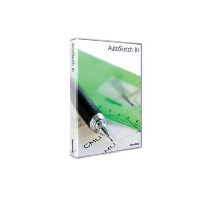 Autodesk AutoSketch V10 Commercial Stand-Alone Licence Manager (SLM) 2D Drafting Software