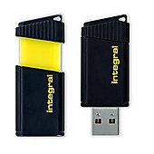 Integral Pulse 64GB USB 2.0 Flash Drive - Yellow