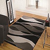 Sincerity Modern Contour Black 120x170 cm Rug