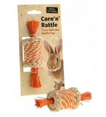 Small N Furry Corn Rattle Toy