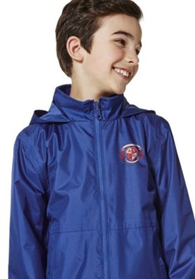 Unisex Embroidered Reversible School Fleece Jacket 7-8 years Bright royal blue