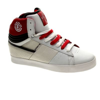 Element Omahigh White/Red Shoe