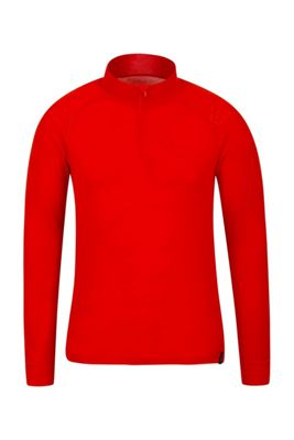 Mountain Warehouse Merino Mens Long Sleeved Zip Neck Top ( Size: XL )
