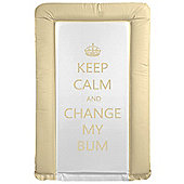 Babywise Baby Changing Mat - Keep Calm & Change My Bum (Neutral)