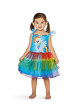 Hasbro My Little Pony Rainbow Dash Dress and Wings Fancy Dress Costume - Blue